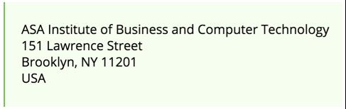 Лист на юридичну адресу в США