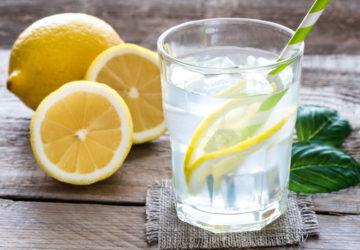Вода з лимоном і медом