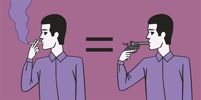 Когнітивний дисонанс на прикладі куріння