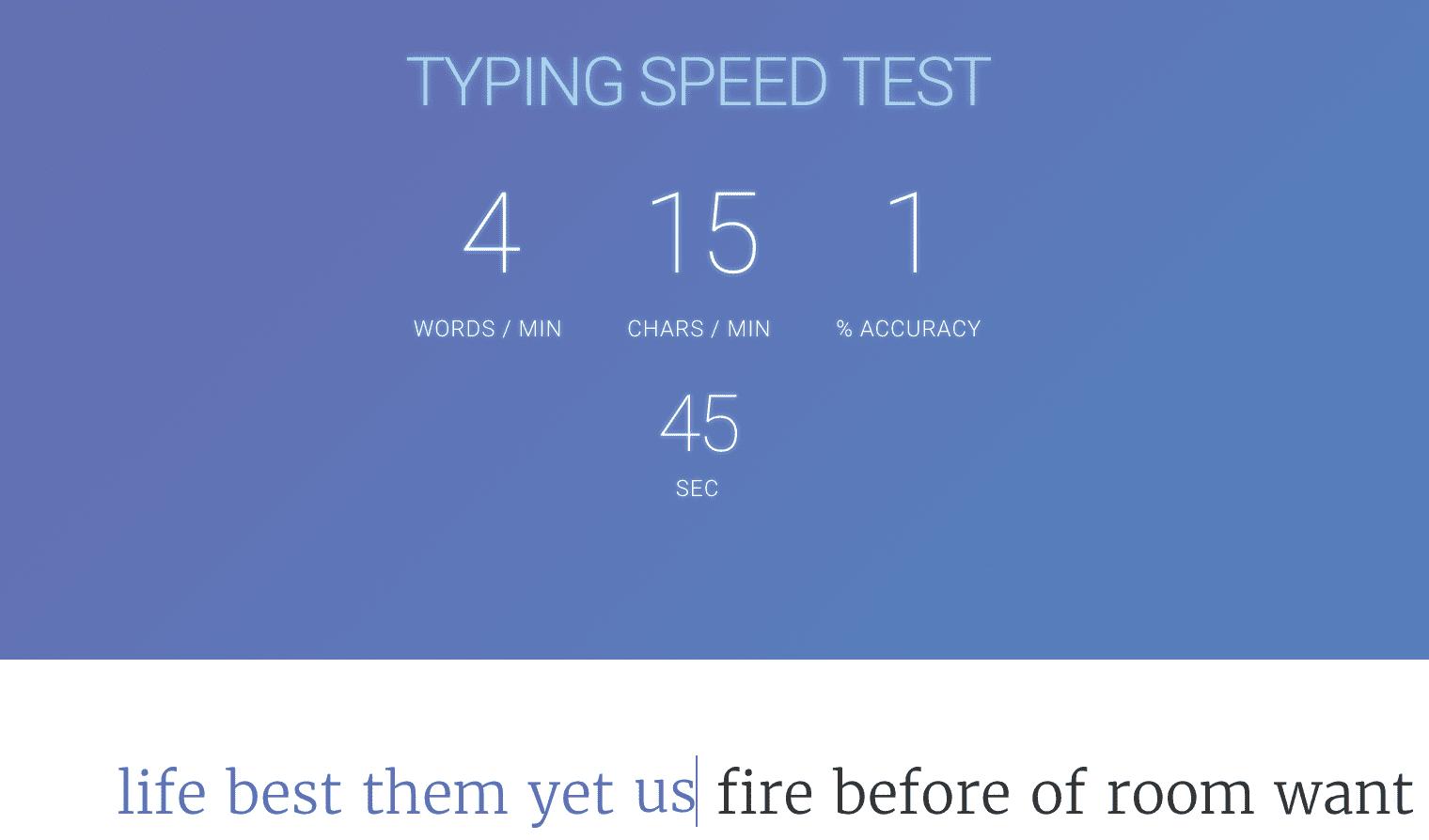 Free Typing Speed Test