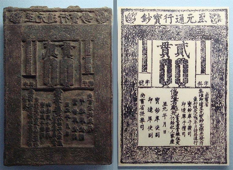 Бумажные деньги древнего Китая