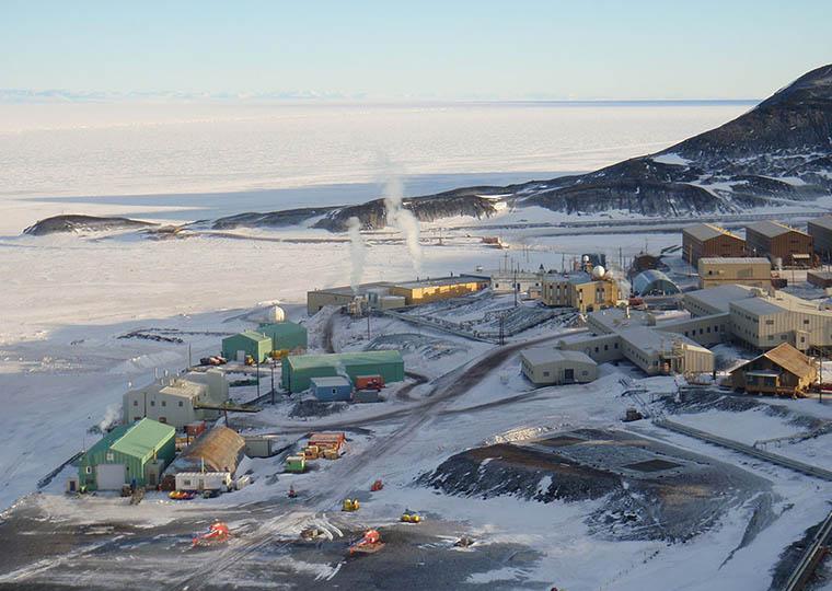 Банкомат на территории Антарктиды