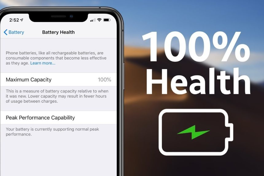 Здоровя батареї в iPhone