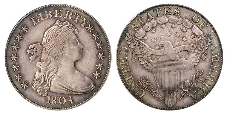 Flowing Hair Dollar 1804 года выпуска