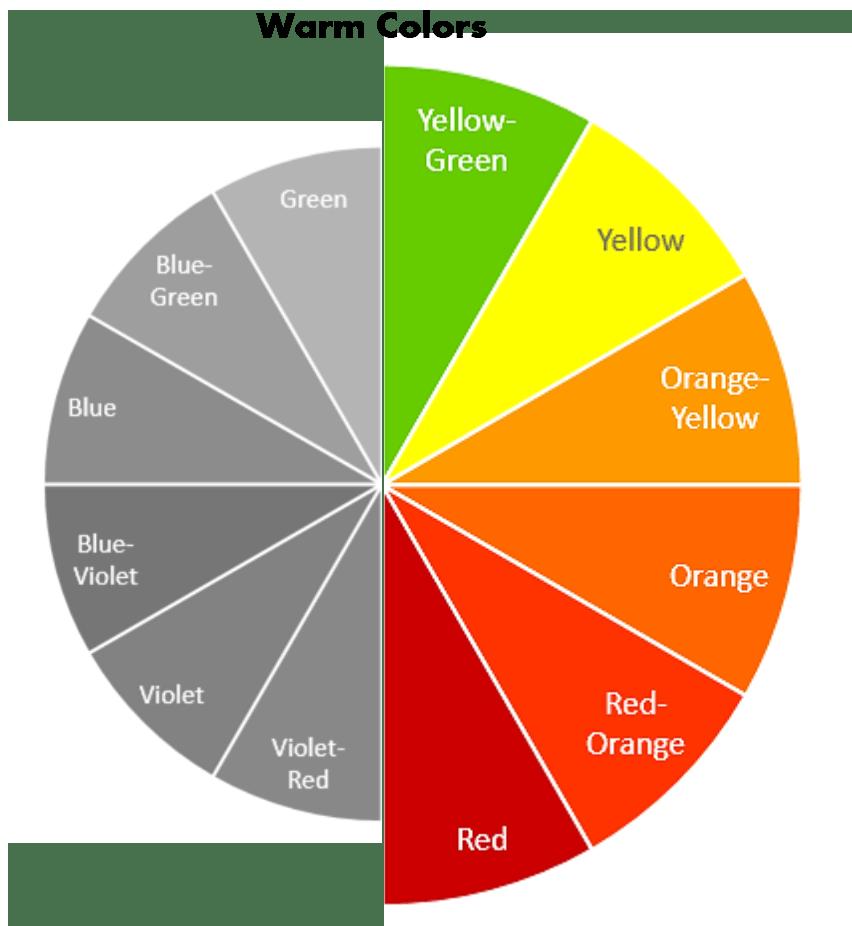 Теплі кольори і відтінки