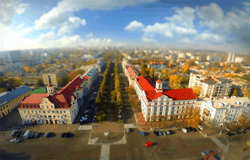 Панорама Чернігова з висоти пташиного польоту