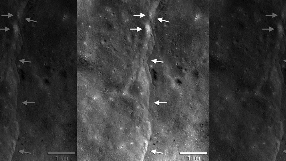 Сліди льоду і снігу на полюсах Місяця