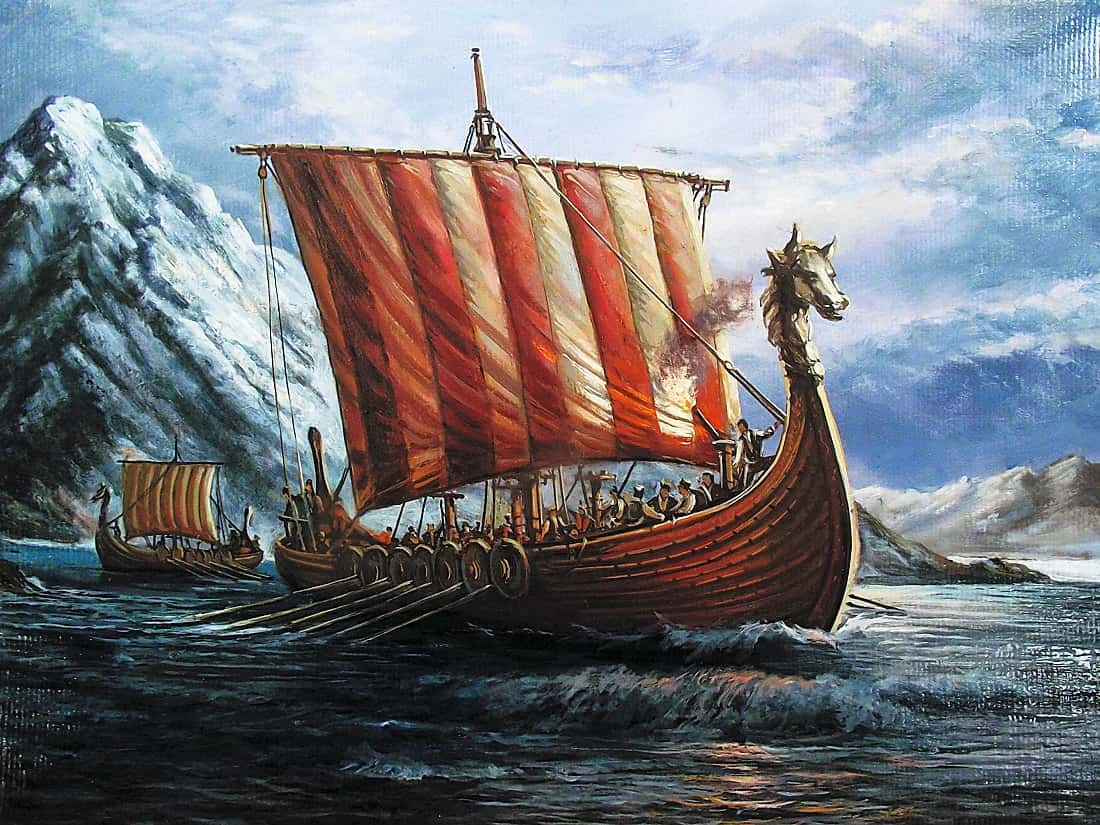 Вікінги пливуть в Ісландію