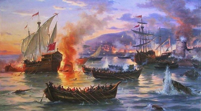 """Козацькі """"чайки"""" в бою на морі"""