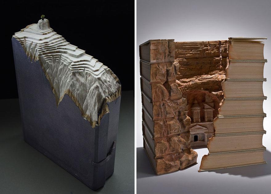 Різьблені скульптури з книг