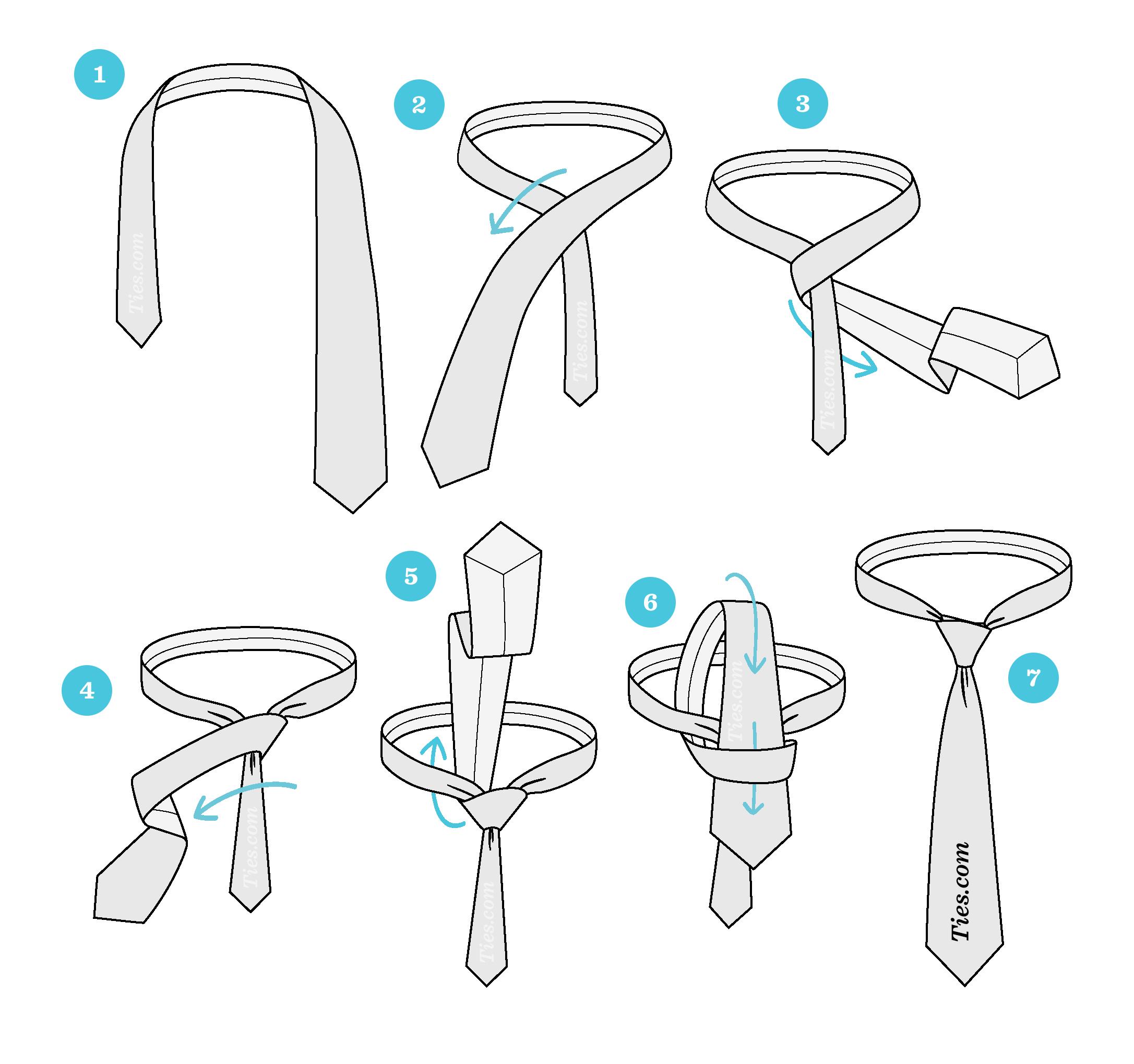 """Як завязати краватку простим вузлом """"четвірка"""""""