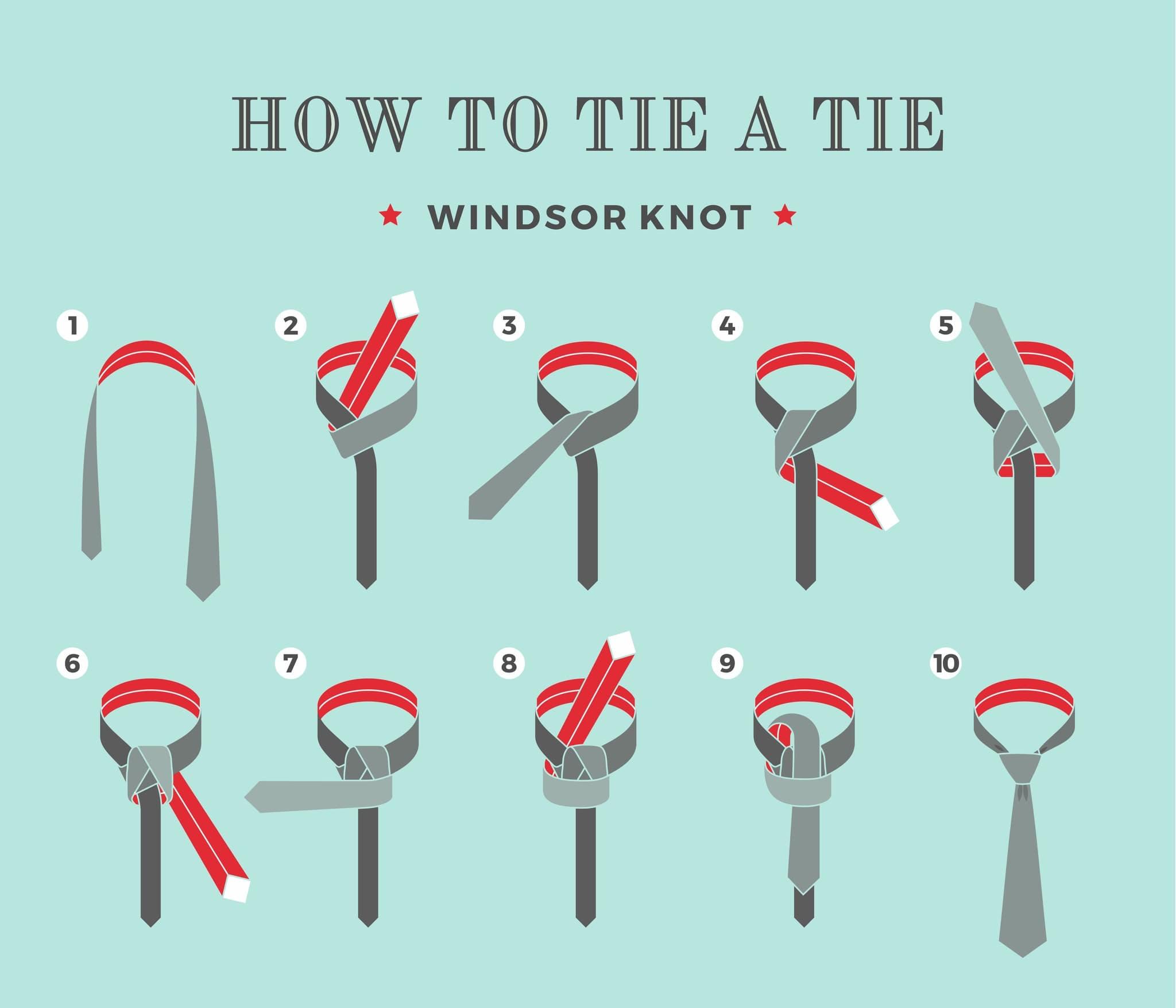 """Як завязати краватку вузлом """"Віндзор"""""""
