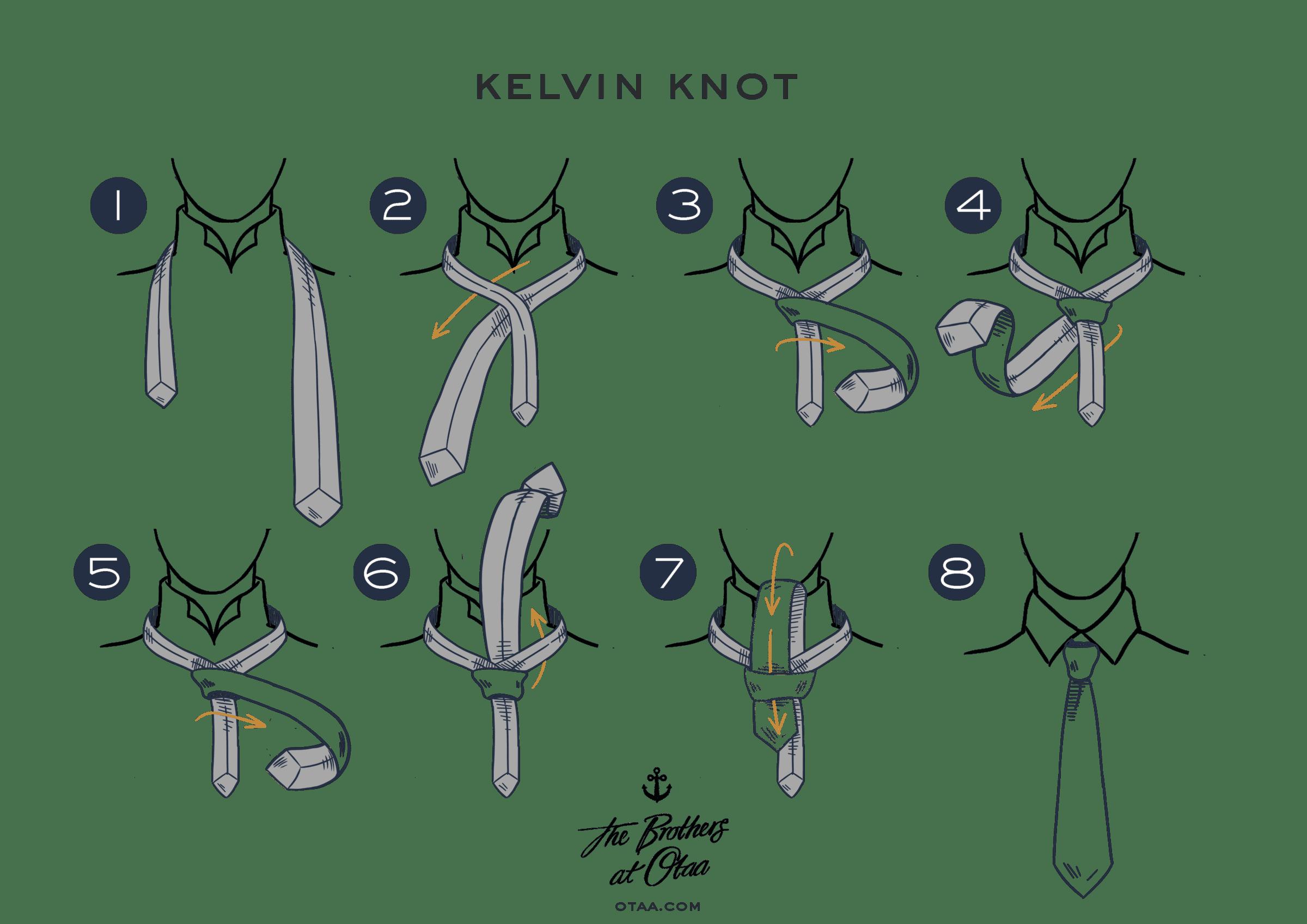 """Як завязати краватку вузлом """"Кельвін"""""""