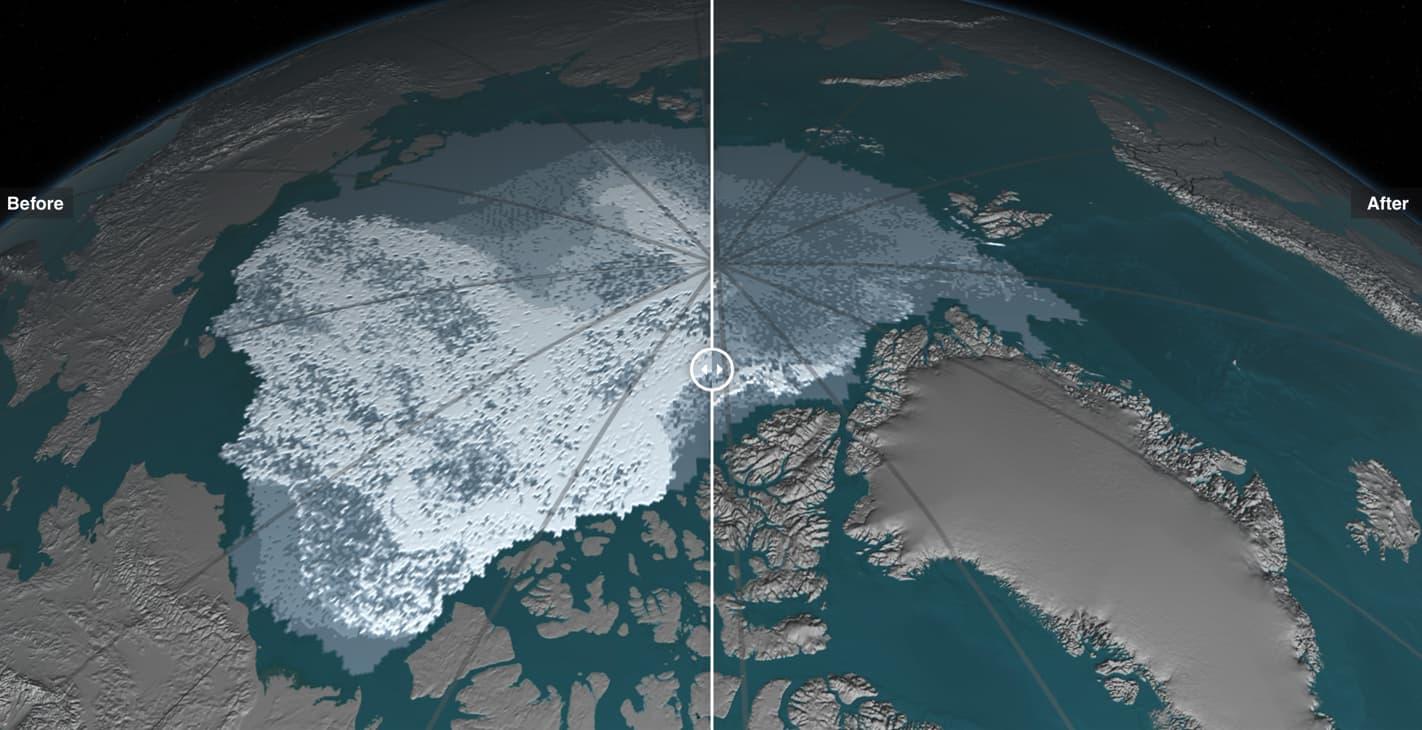 Скорочення площі арктичних льодів