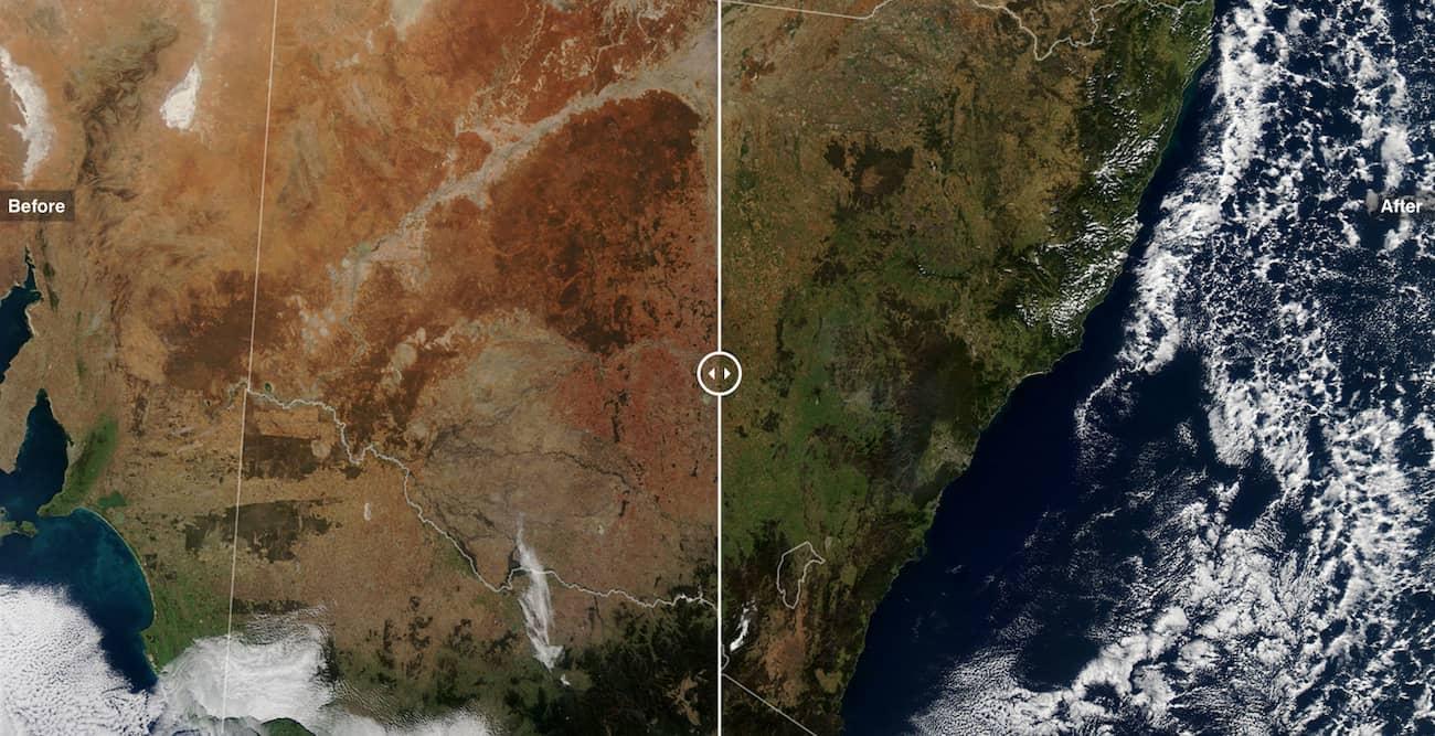 Фото Австралії з супутника