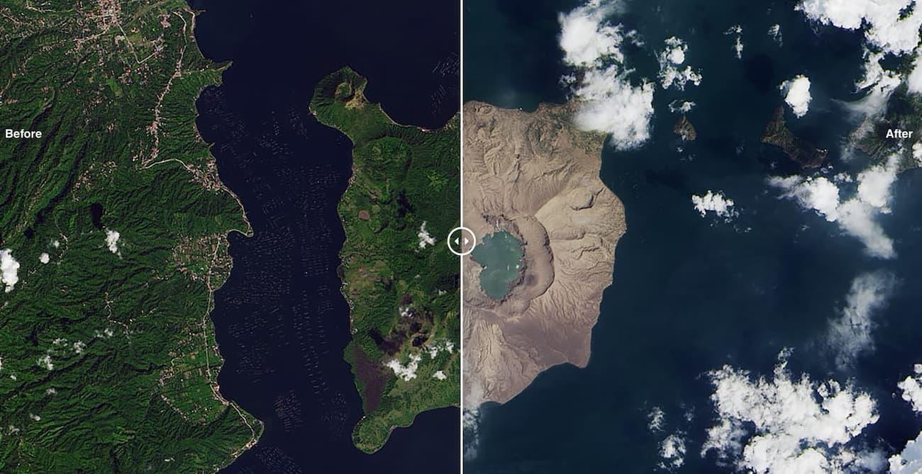 Попіл після виверження вулкана на Філліпінах