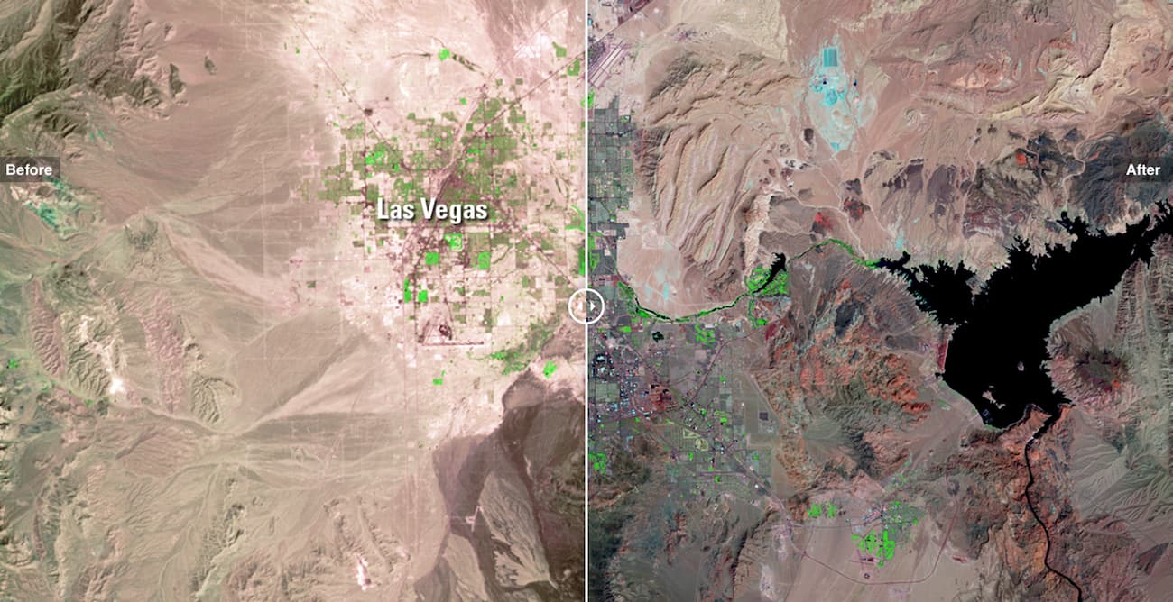 Фото Лас-Вегаса з Супутника