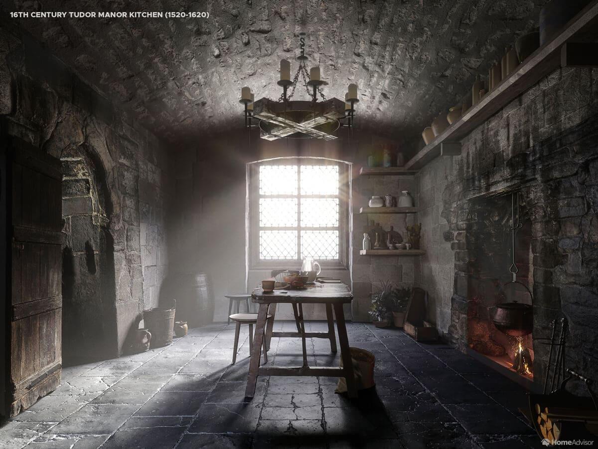 Як виглядала кухня в 16 столітті