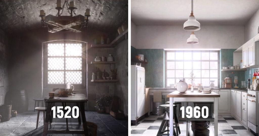 Еволюція інтерєру кухні за останні 500 років