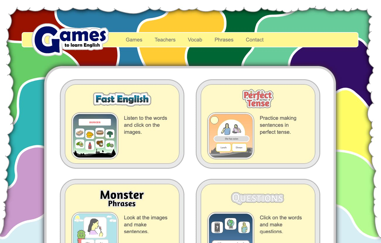 Games to Learn English fro Kids