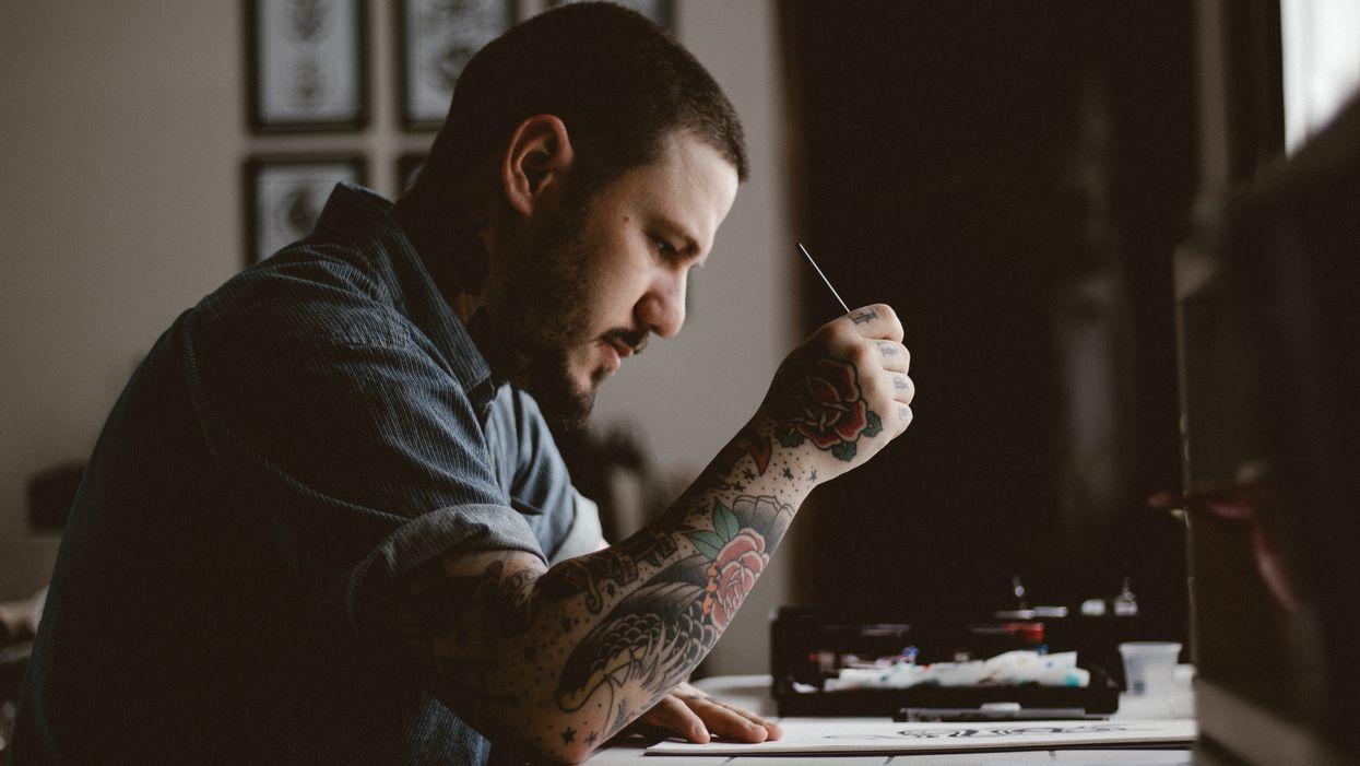 Татуювання на тілі у чоловіка