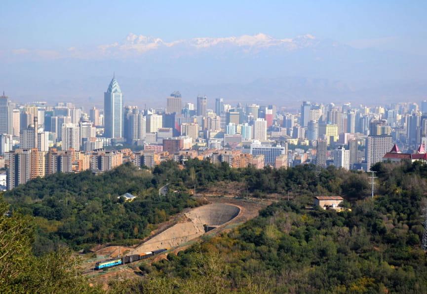 Місто Урумчі в Китаї